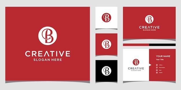 명함 서식 파일이 있는 b 로고 디자인