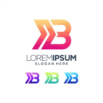 B логотип знак