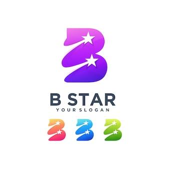 B звезда логотип успех бренда