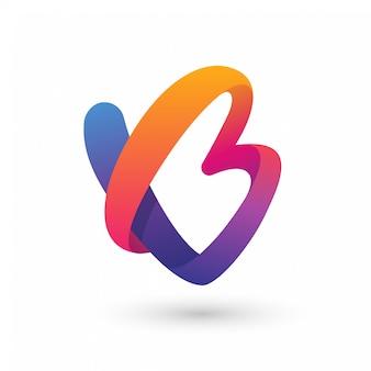 抽象bまたはvbのロゴ