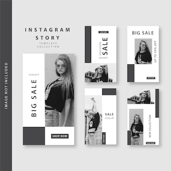 B&w instagramストーリー