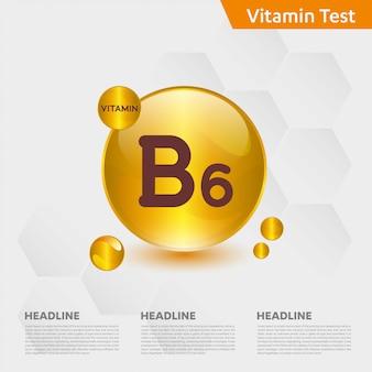 ビタミンb6インフォグラフィックテンプレート