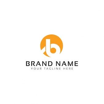 Шаблон логотипа b