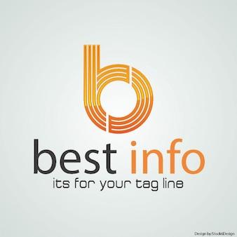 B письмо логотип