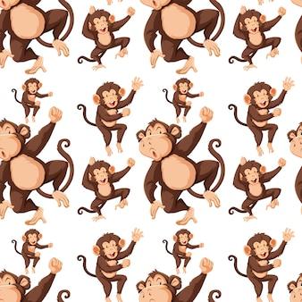 シームレスパターンbの猿