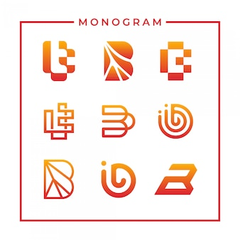 Вдохновенный монограмма буква b дизайн