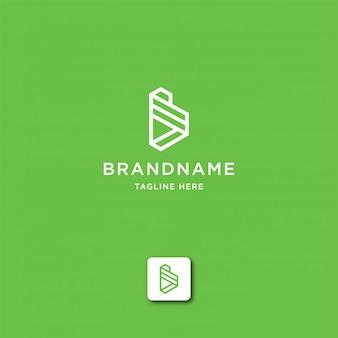 Буква b абстрактный логотип шаблон
