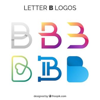 文字「b」の様々な抽象的なロゴ