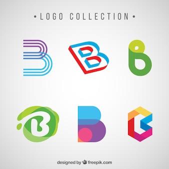 Пакет абстрактных логотипов буквы