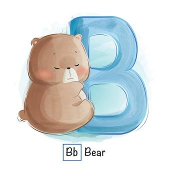 Алфавит животное - b