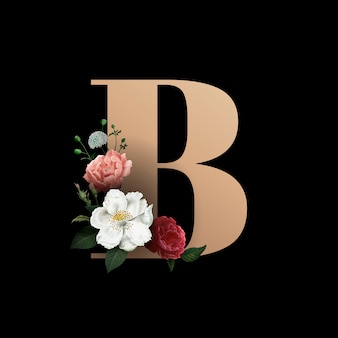 Цветочный шрифт b