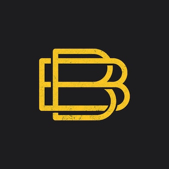 Bの文字ロゴアイコン