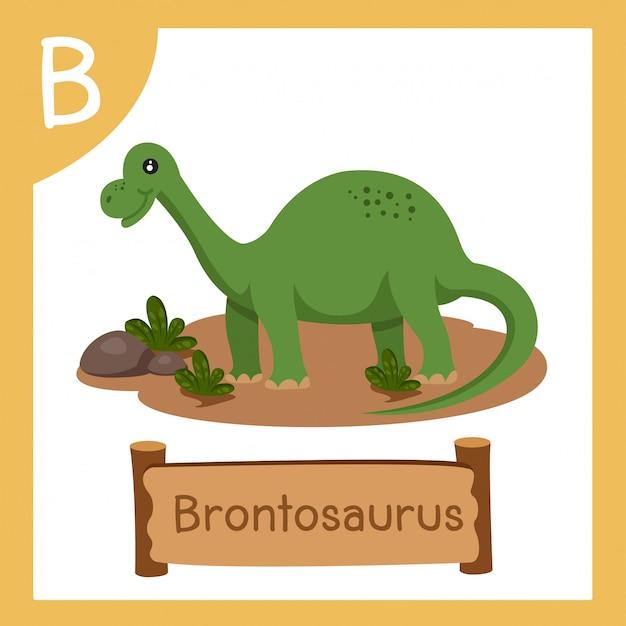 恐竜ブロントサウルスのbのイラストレーター