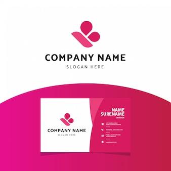 Современная профессиональная буква b логотип шаблон визитной карточки