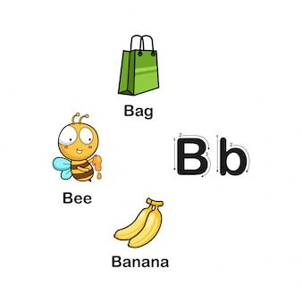 アルファベット文字b