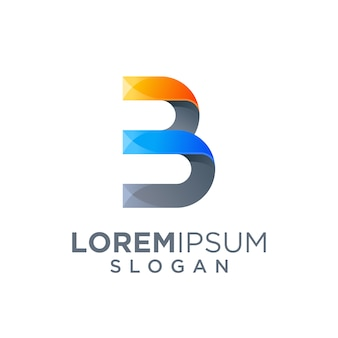 Буква b дизайн логотипа