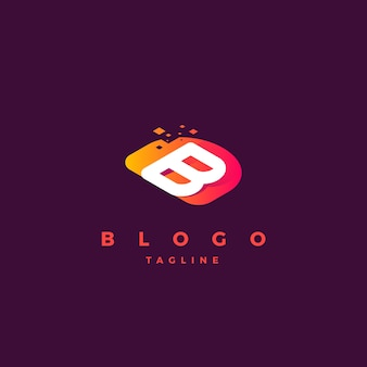 B логотип