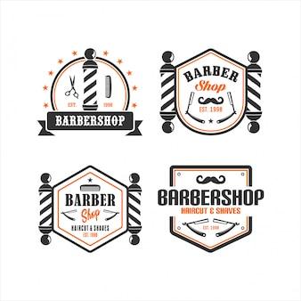 Babershop vintage logo коллекции