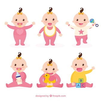 Babies collection with different poses