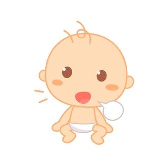 Baby babbling.