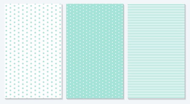Baby background. blue pattern.  illustration. polka dot, stripes, stars pattern.