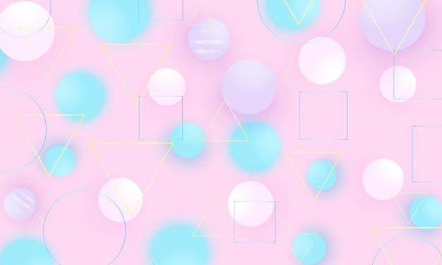 Детский фон с мягкими розовыми голубыми шарами.