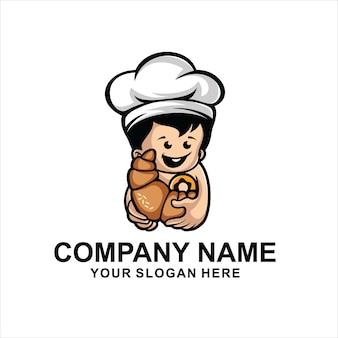 赤ちゃんのパン屋のロゴのベクトル