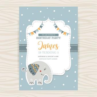 赤ちゃんの誕生日カード テンプレート