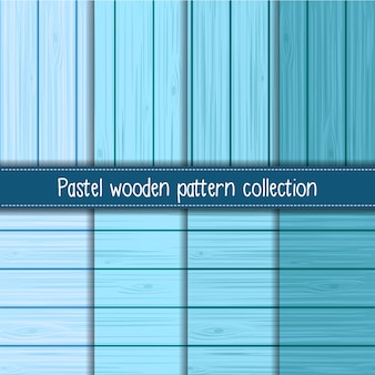 Baby blue gradient of shabby chic wooden seamless patterns
