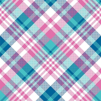Baby blue pink pastel color plaid seamless pattern. .