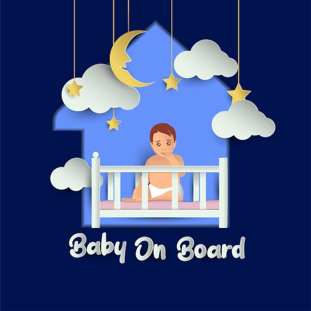 Baby on board. vector illustration