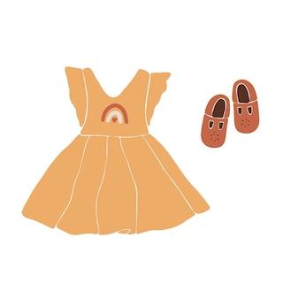 Детская одежда в стиле бохо, милый минимальный износ