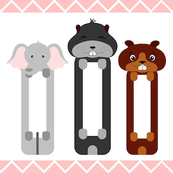 Baby bookmarks with cute animals