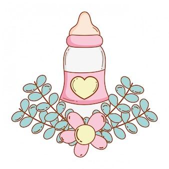 Baby bottle cartoon