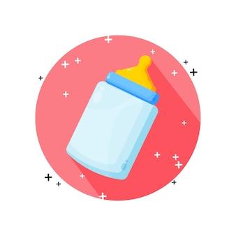 Значок детской бутылочки, изолированные на белом фоне