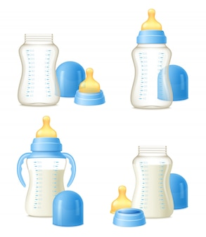 Baby bottle realistic constructor set