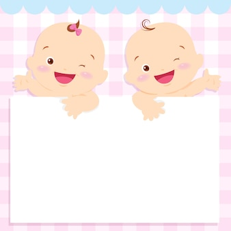赤ちゃんと女の子のスペースフレーム
