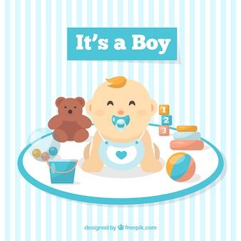 Fondo del neonato in stile piano