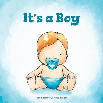 Stile disegnato del fondo del neonato a disposizione