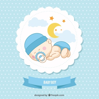 baby boy card - New Born Baby Card