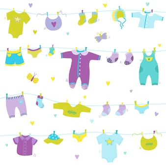 Baby boy cute background for baby shower