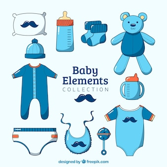Baby boy elements collection