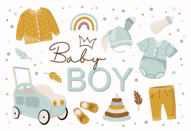 Baby boy elements.
