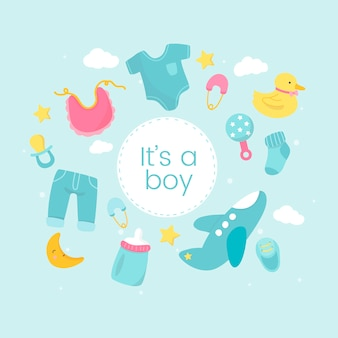 Baby boy gender reveal