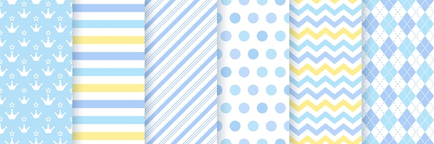 Baby boy pattern. baby shower seamless background. .