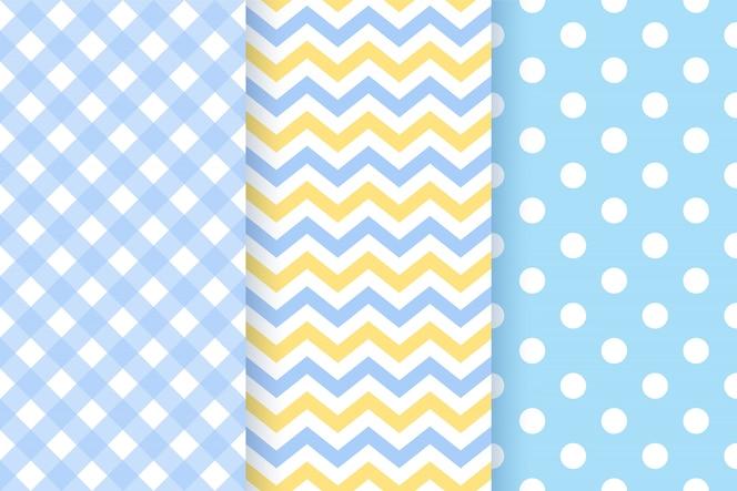 Baby boy pattern. baby shower seamless backgrounds.   illustration.