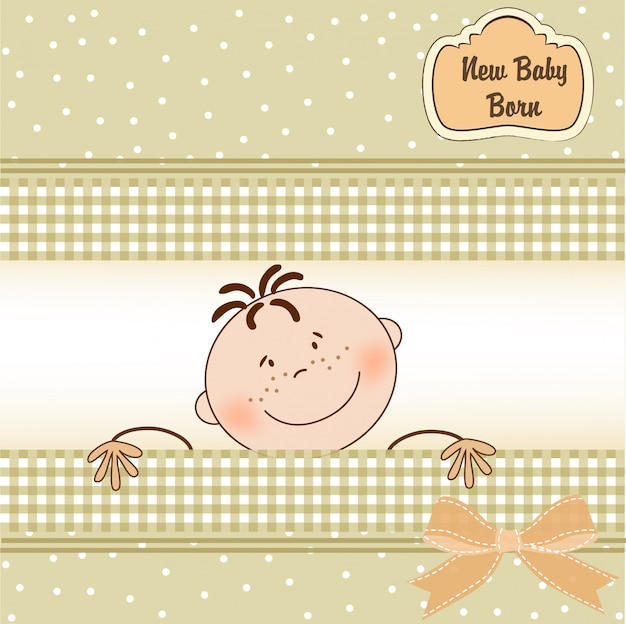 Baby boy shower announcement card