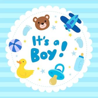 Baby boy shower design