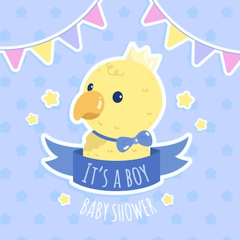 Baby boy shower party with chicken