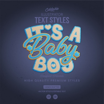 Baby boy text style
